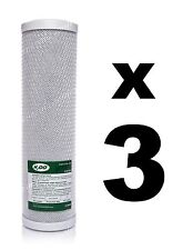 "Bloque de carbón de 3 x filtros para unidades de ósmosis inversa, 10"",RO, Filtro De Agua fccbl"