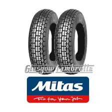 "Set of 2 x MITAS B14 350 x 10 SCOOTER TYRES for Lambretta Li, TV, SX, GP 10"" Rim"