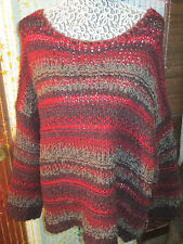 STRIKING COLORS Free People heavier sweater,size Lg.sells at $128.nwt
