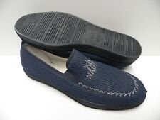 Chaussons bleu marine pour HOMME taille 45 garcon slippers blue man NEUF #nautic
