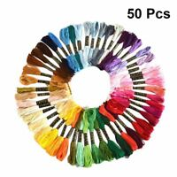 Lots 50 Multi Colors Cross Floss Stitch Thread Cotton Embroidery Sewing Skeins