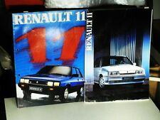 CATALOGUE GAMMES RENAULT 11 1983/84 NEDERLAND EDITION + R11 1986/87 (french)