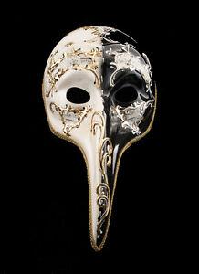 Masque Turco de Venise au Long Nez Day Night Venitien Noir VG18 1516