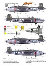 Bombshell Decals B-25 MITCHELL Aircraft 8Z Brenner Pass & Sandbar 3 Scales!