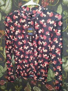 Dolls Kill Happy Mushrooms Mesh Shirt Top. Brand new. Size Large. Dangerfield.