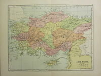 1904 Map Of Antiguo Historia Asia Minor ~ Chipre Lycaonia Mysia Caria Phrygia