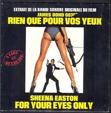 JAMES BOND RIEN QUE POUR VOS YEUX BO FILM 45T SP LIBERTY 83.163 SHEENA EASTON