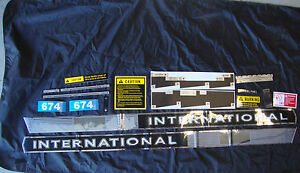 674 INTERNATIONAL TRACTOR 674 IH COMPLETE DECAL SET HIGH QUALITY 🎯