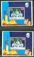 YEMEN APOLLO SPACE PERF &  IMPERFSOUVENIR SHEETS  MINT NH