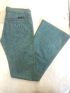 FRANKIE B Women's  Slim FLARED/boot Cut Medium Blue Jeans Size 6x33