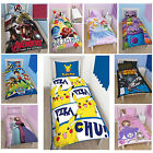 Disney  & Kids TV Character Single Panel Quilt Duvet Cover Bedding Set New Gift