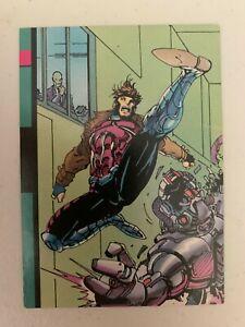 1992 Marvel X-Men Series 1 GAMBIT TOYBIZ PROMO CARD, #94 - Impel (RARE)