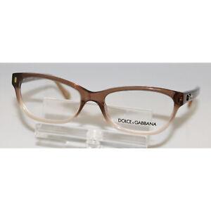 New Authentic DOLCE & GABBANA DG1205 1675 Transparent Brown Eyeglasses