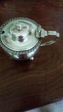 Antique Silver Mustard Pot, hallmarked London 1911