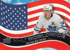 AUSTON MATTHEWS NO:WW-2 NHL WORLDWIDE in UPPER DECK 2020-21