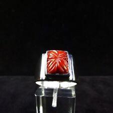 Ring Gr. 60 Silber 925 mit Koralle