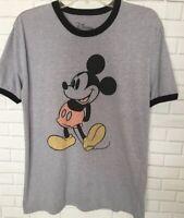 Vintage Mickey Mouse Ringer Tee Size M Disney Retro