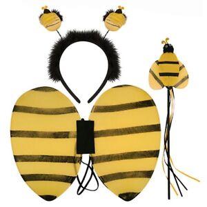 BUMBLE BEE Wings Bopper Wand Headband Fancy Dress Set Kit School Insect Book