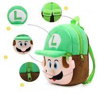 Super Mario Luigi Bag Backpack Schoolbag Kindergarten Children Kids Boys Mini
