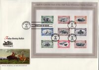 1998 Trans-Mississippi Re-issue Sc 3209 full sheet FDC Fleetwood