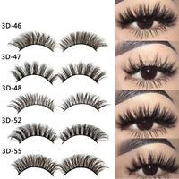 5 Pairs 3D Fake Eyelashes Long Thick Natural False Eye Lashes Set Mink Makeup