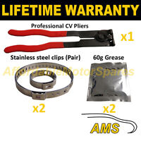 CV BOOT CLAMPS PAIR INNER & OUTER x2 CV GREASE x2 EAR PLIERS x1 KIT 4.2