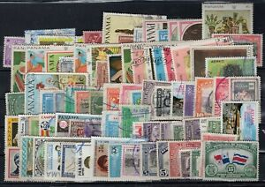 PANAMA, LOT 80 DIFFERENT STAMPS, VERY NICE!