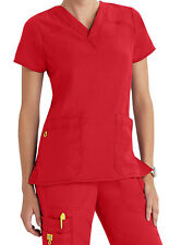 WonderWink Four Stretch 6214 V-Neck Scrub Top XS (Poppy)
