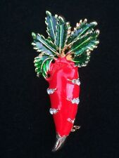 SALAD GARDEN VEGETABLE EASTER EGG BUNNY RABBIT CARROT PIN BROOCH JEWELRY 3D #2