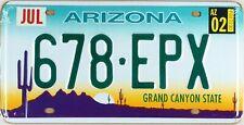 Plaque d'immatriculation américaine ARIZONA Grand Canyon State