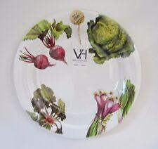 "VALORI HOME ITALY Printed Vegetables Large 14"" Serving Plate Platter Ceramic NEW"
