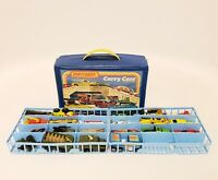 VINTAGE 1970's MATCHBOX LESNEY SUPERFAST 20 CAR LOT WITH CARRY CASE
