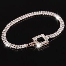 Luxus Tennis Armband Armkette Bracelet Rosegold Rotgold Gold verg 17 cm Geschenk