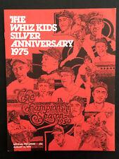 1975 Philadelphia Phillies The Whiz Kid Silver Anniversary Vintage MLB Program