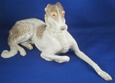 Stunning Nymphenburg Porcelain Borzoi Dog Figurine Figure Porzellan Hund Figur
