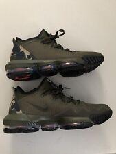 Nike Air LeBron 16 Low Camo LeBron James 2019 Basketball Shoes Men's Size 11
