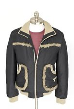 Mens DOLCE & GABBANA Black Wool Mohair Bomber Full Zip Coat Jacket 50 40 M NWT