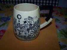 """Vintage Carlton Ware Mug ~Orange Cart ~Man on Lamp Post/Police ~ England ~ 5"""" H"""