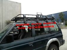 Enclosed Deluxe Steel Roof Rack Cage 2200mm for Mitsubishi Pajero NA-NL Rack