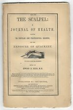 Antique 1849 The Scalpel: A Journal Of Health Rare Medical Periodical Medicine