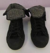 VTG Unisex Chuck Taylor CONVERSE Black/Houndstooth Suede Hi Boots Size 5
