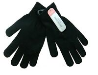 Mens Black Gloves One size Magic 2-5 Pairs Warm Stretch Winter Thermal Kids