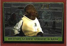 1999 Topps Star Wars Chrome Archives #88 Military Leader Admiral Ackbar
