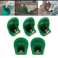 Livestock Automatic Water Bowl w/ Metal Valve for Sheep Calves Goat 5Pack