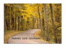 Caravan or Motorhome Owners, Travel Record Log & Journal - Forest Road Yellow D1
