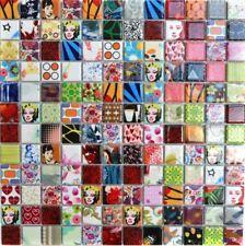 Keramik Mosaik bunt Star Fliesenspiegel Küche Dusche Bad WC 18D-1605 10Matten
