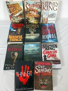 Lot of 11 - Stephen King - Hardcover Books - Pet Sematary THINNER Needful Things