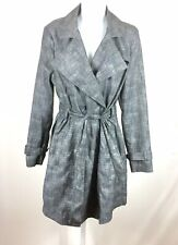 Kenneth Cole New York Womens Belted Jacket Button Down Size Medium Gray