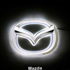 2D LED Car Tail Logo White Light Auto Badge Emblems Lamp For Mazda 5 New Mazda 6