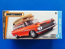 2017 Matchbox Power Grabs 1959 CHEVROLET STATION WAGON with canoe in match box!